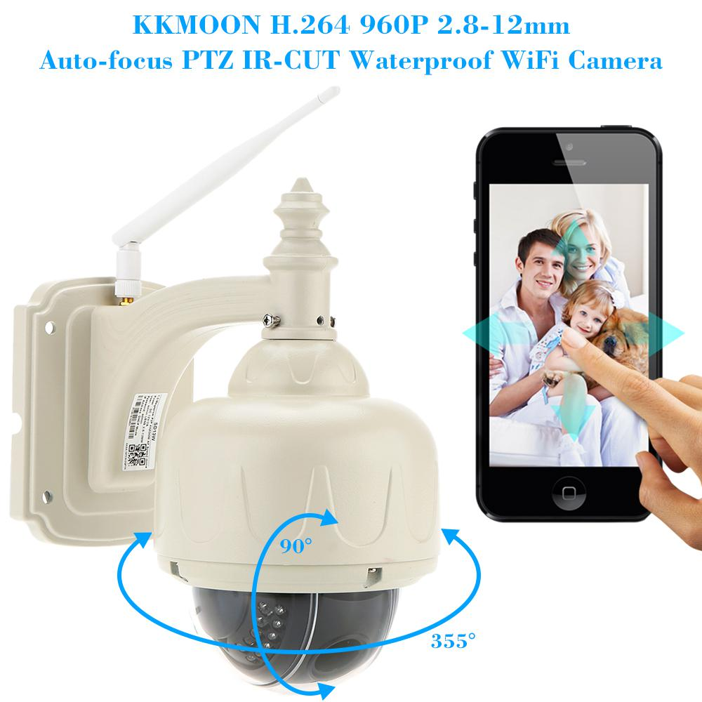 Image 2 - KKmoon 960P Wireless WiFi IP Camera Outdoor PTZ 2.8 12mm Auto focus Waterproof H.264 HD CCTV Security Camera Wifi Night Vision-in Surveillance Cameras from Security & Protection