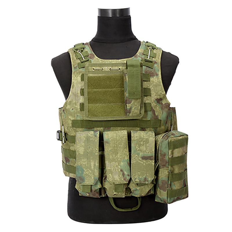 Camouflage Hunting Military Tactical Vest With Ponches Wargame Body Molle Armor Hunting Vest CS Outdoor Equipment