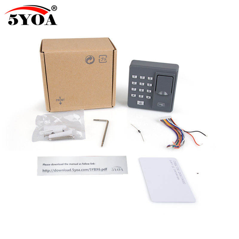 Image 5 - Biometric Fingerprint Access Control Machine Digital Electric RFID Reader Scanner Sensor Code System For Door Lock-in Fingerprint Recognition Device from Security & Protection