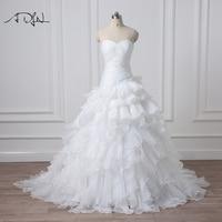 New Design Vestidos De Novia A Line Sheer Neckline Embelished With Crystal Beads Tulle Lace Wedding