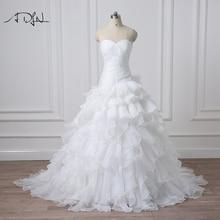 Desain baru pernikahan & de novia A-line Sheer Leher Embelished Dengan Manik-manik Kristal Tulle & Lace Wedding Dress 2015 Bridal Dresses