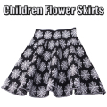 Girl Child Clothing Knitting Skirt Girls Skirts Princess Skirts Tutu Black White Flowers Kids Skirts