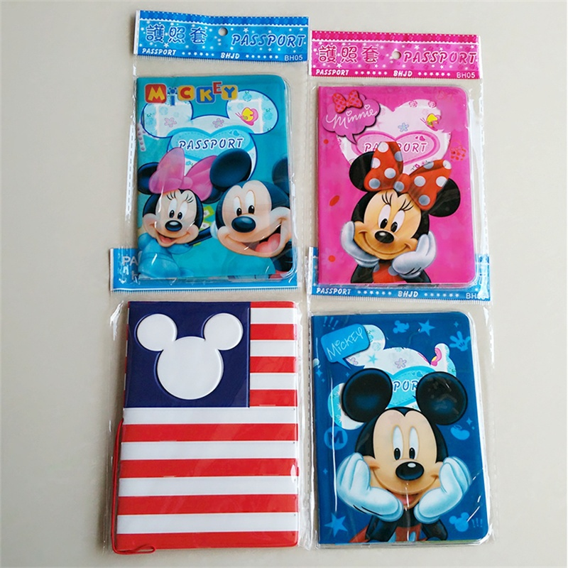 Multifunctional PVC Passport Cover Travel Mickey and Minnie Storage Bag ID Card Holder Document Package Cover monopoly multifunctional polyethylene travel passport cards storage bag deep pink page 3