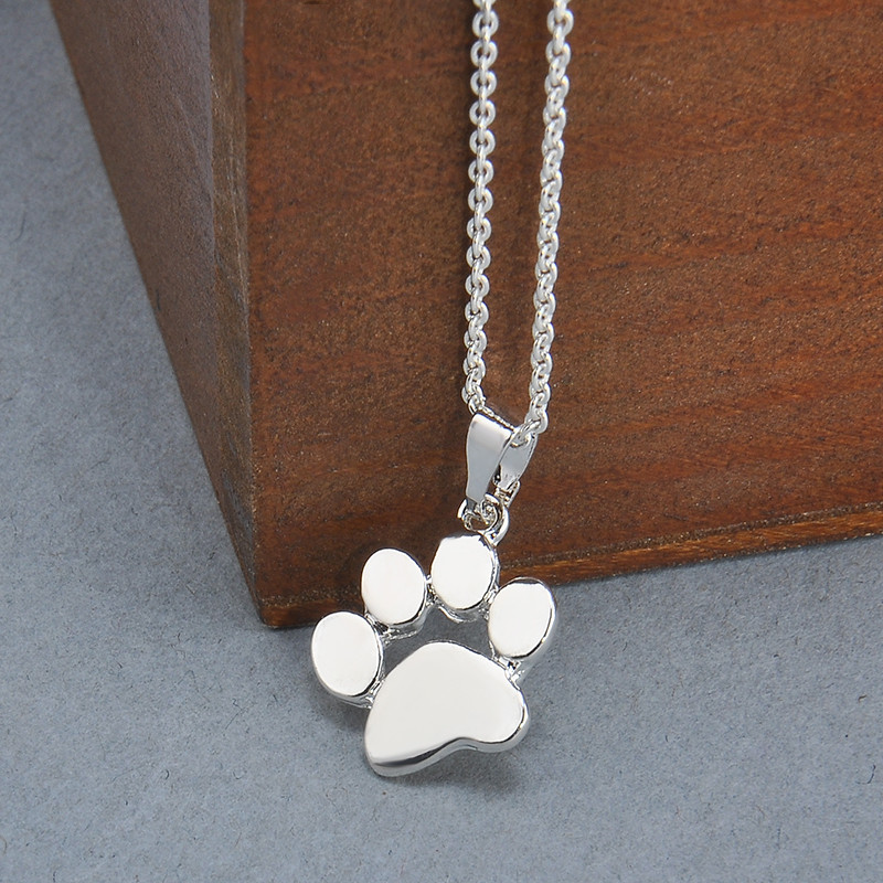 Cute Cat Paw Pendant Necklace