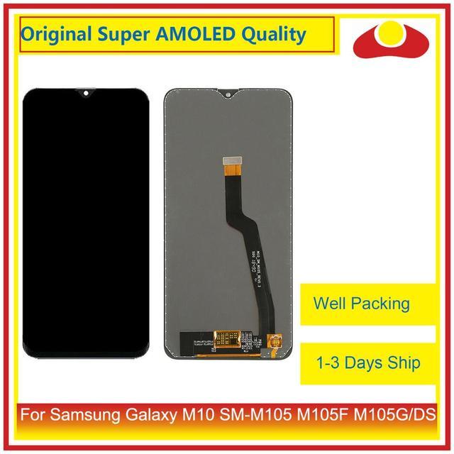10 sztuk/partia dla Samsung Galaxy M10 LCD SM M105 M105F M105G/DS wyświetlacz LCD z ekranem dotykowym panel digitizera Pantalla pełna