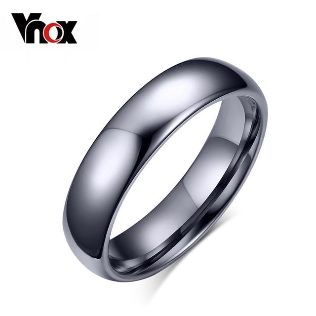 Vnox Tungsten Ring for Women Men 4mm/6mm Original Color Classic Wedding Jewelry