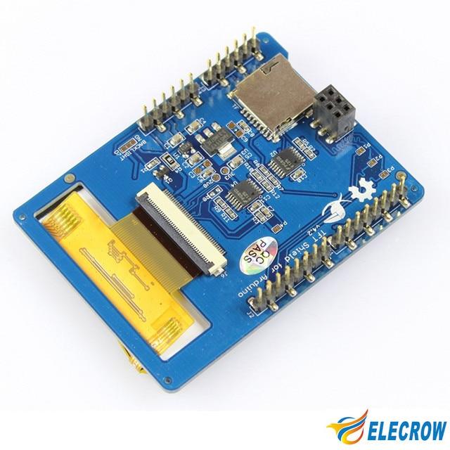 """Elecrow 2.8 인치 tft 터치 쉴드 v4.3 arduino 메가 240x320 lcd 모듈 2.8 """"tft 디스플레이 sd 카드 diy 키트"""