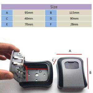 Image 3 - Dayanıklı duvara monte çinko alaşım anahtar depolama gizli kutusu organizatör kilidi 4 haneli kombinasyon şifre güvenlikli güvenli ekipman