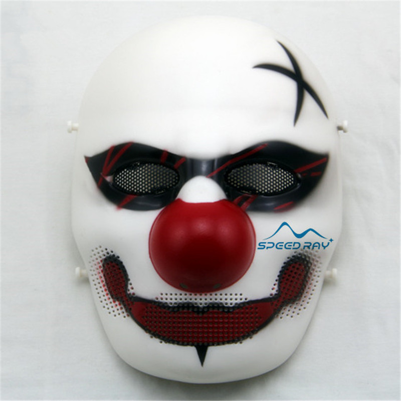 Clown Skull Mask Skull Tactical Masks Paintball Mask Air Soft CS Field War Games Protection Halloween Cosplay Ball Mesh Mask