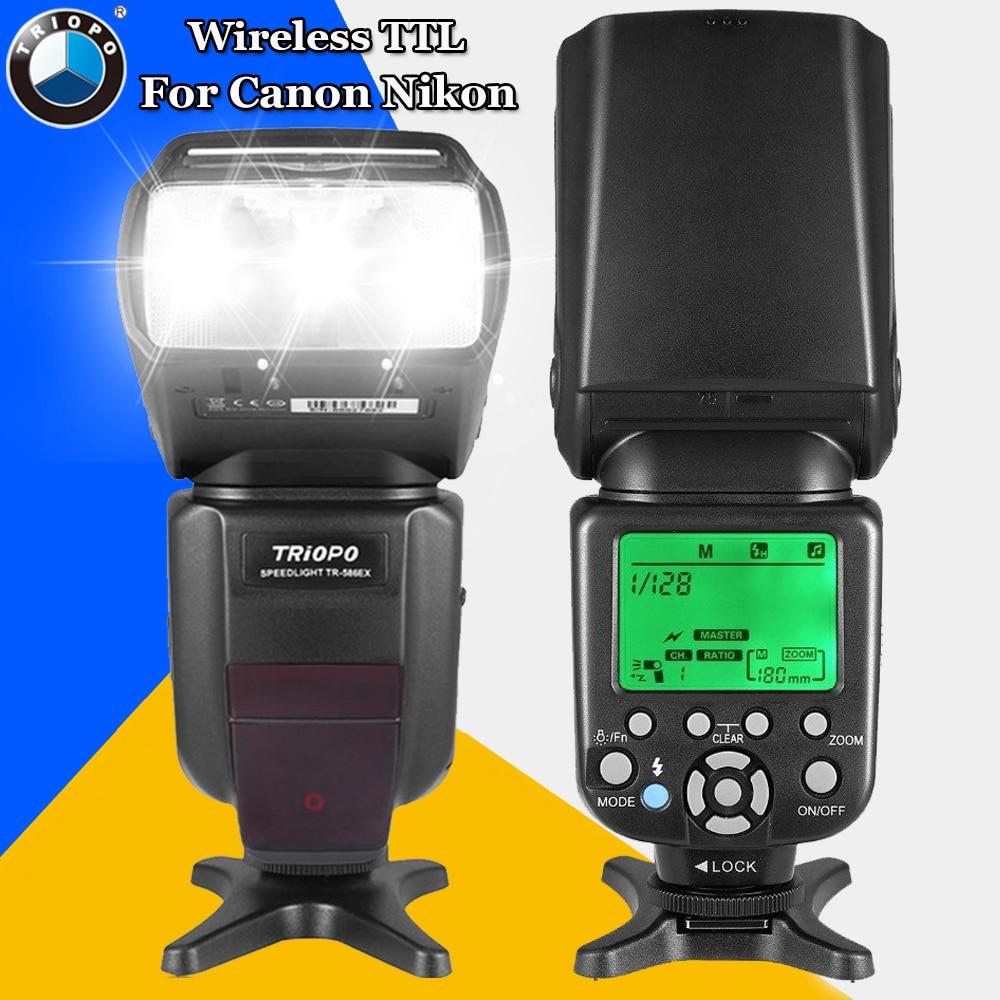 Triopo TR-586EX Wireless TTL Flash Speedlite For Canon Nikon DSLR Camera Vs YONGNUO YN565EX YN-565EX YN-565 YN-560 IV JY-680A aputure v screen vs 3 7 inch ips field monitor for canon nikon sony dslr camera