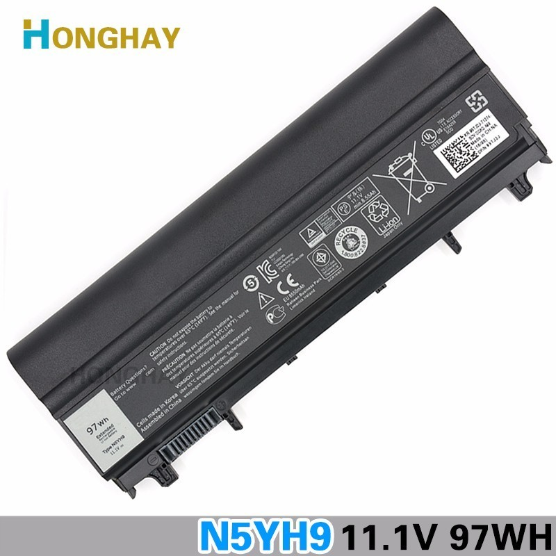 9Cells 97Wh Original New Laptop Battery for Dell Latitude E5440 E5540 N5YH9 FT6D9 3K7J7 M7T5F wholesale new 6 cells laptop battery for dell latitude d620 d630 d630c d631 series 0gd775 0gd787 0jd605 0jd606 free shipping
