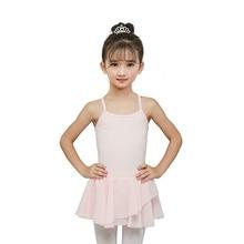 Girls Light Pink Ballet Dance Practice Leotards Costumes Kids Stage Performance Dancing Skirt Children Dresses Dancewear