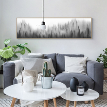 Minimalist Landscape Forest Woodland Canvas Paintings