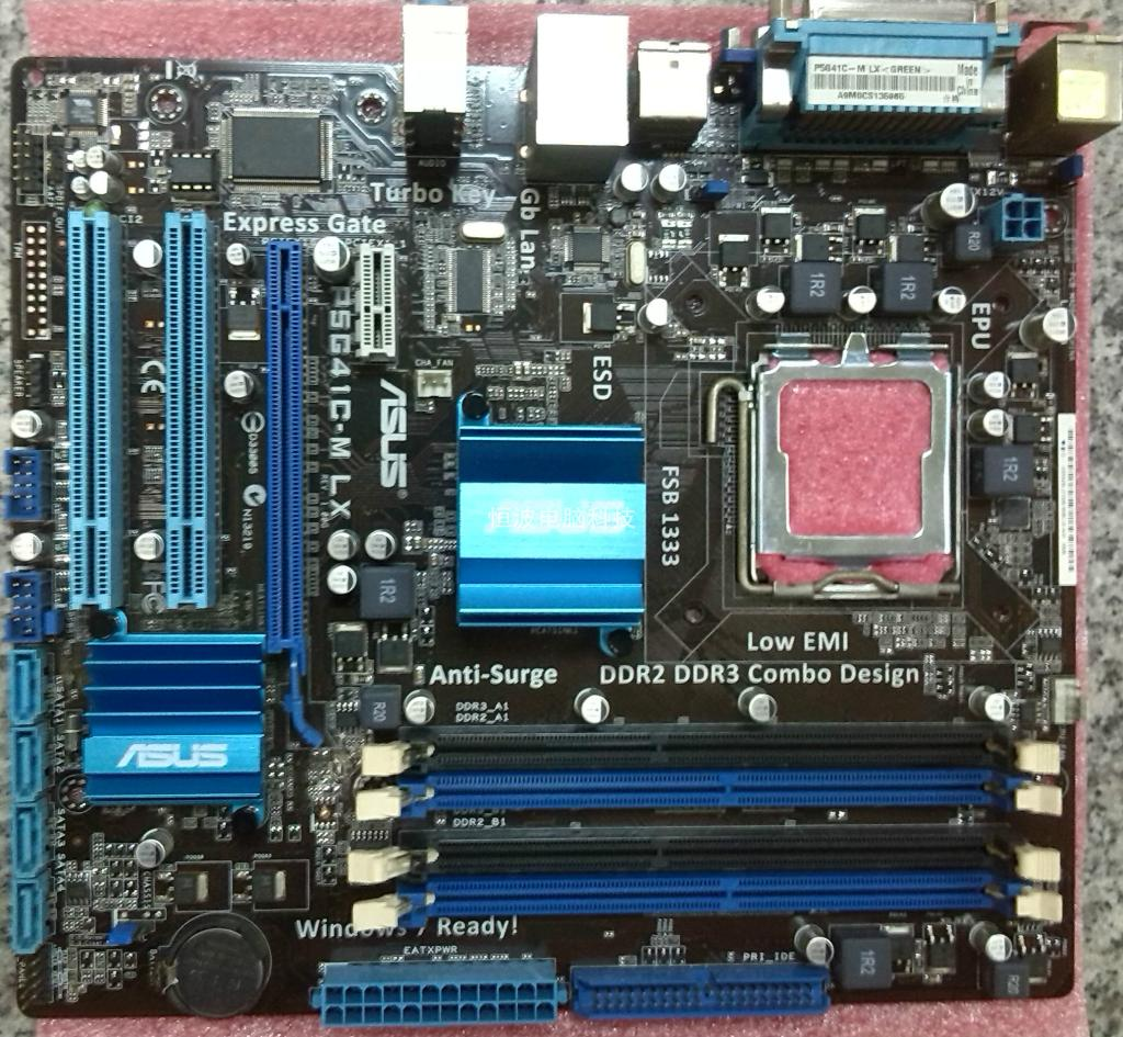 Used,Asus P5G41C M LX Desktop Motherboard Intel G41 Socket LGA 775 DDR2 &  DDR3 u ATX On Sale-in Motherboards from Computer & Office on Aliexpress.com  ...