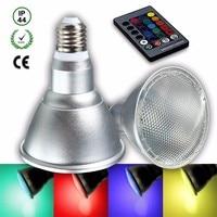 RGB LED Glühbirne E27 7,5 Watt PAR30 Farbwechsel Wasserdichte IP44 Flutlampe Scheinwerfer-birne Mit Fernbedienung AC85-265V