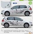 Kk Material de Auto Modifield decalque de vinil adesivos de carro, Naturais da videira da flor libélula conjunto do corpo do carro Styling para carros universais