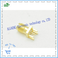 Free Shipping SMA KE Outer Screw Hole SMA Connector SMA Female Socket Welding PCB Board Gilded
