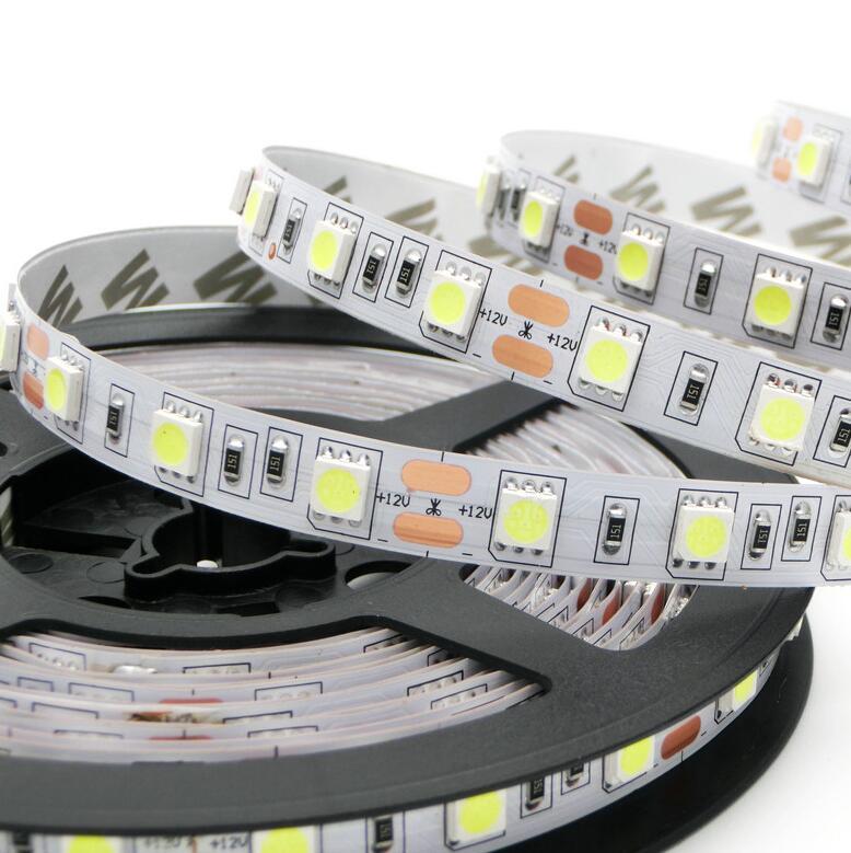 5050 led strops 5m RGB white warm white R G B 300 LED 5050 SMD 12V flexible light 60 led/m 5050 Non-waterproof LED strip tape