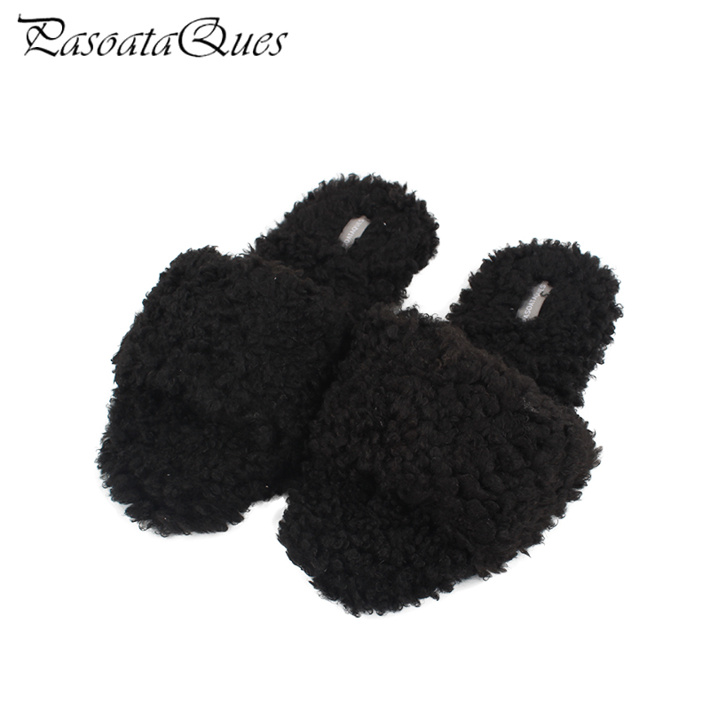 New Arrival Fashion Women Slippers Comfortable Slipper Non-slip Indoor Flat With Plush Women Home Shoes Pasoataques Brand TX8381 coolsa women s fashion furry slippers non slip plush fluffy slippers women s faux hair leopard slippers zapatillas feminino hot