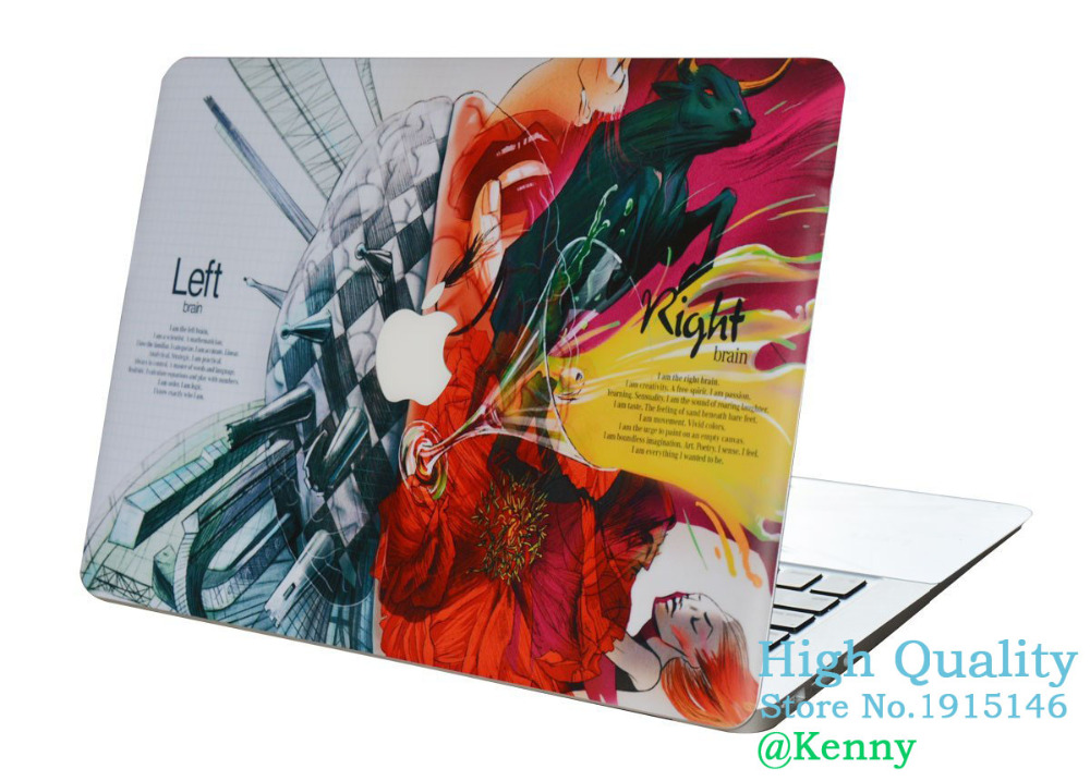 best sneakers 647aa ae67f US $15.89 |Left and Right Robotic Brain skins for Apple Macbook Pro Retina  Cover Sticker 12