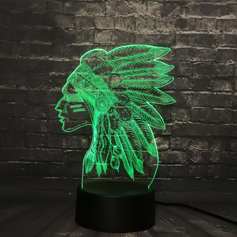 Girl 3D LED Night light feather Lava Lampara Decoration RGB Switch USB 7 Color Change Boy Kid Toy New 2019 Dropship image
