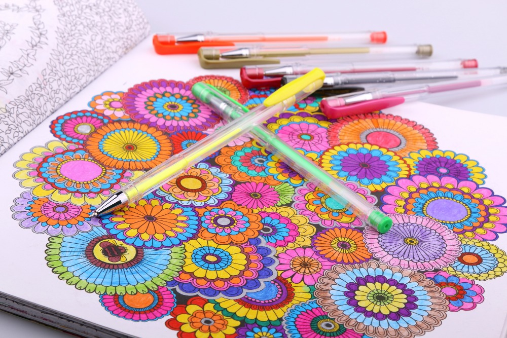 Aliexpress.com : Buy Smart 48 Gel Pens set, Color gel pens Glitter ...