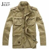 Flaow AFS JEEP Autumn Man S 100 Cotton Multi Pockets Long Jacket Real Clothe Bolsillos Military