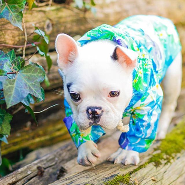 Fl Summer Small Dog Pets Hoos Shirts Sunscreen Clothes Beach Wear Cats Clothing Xs
