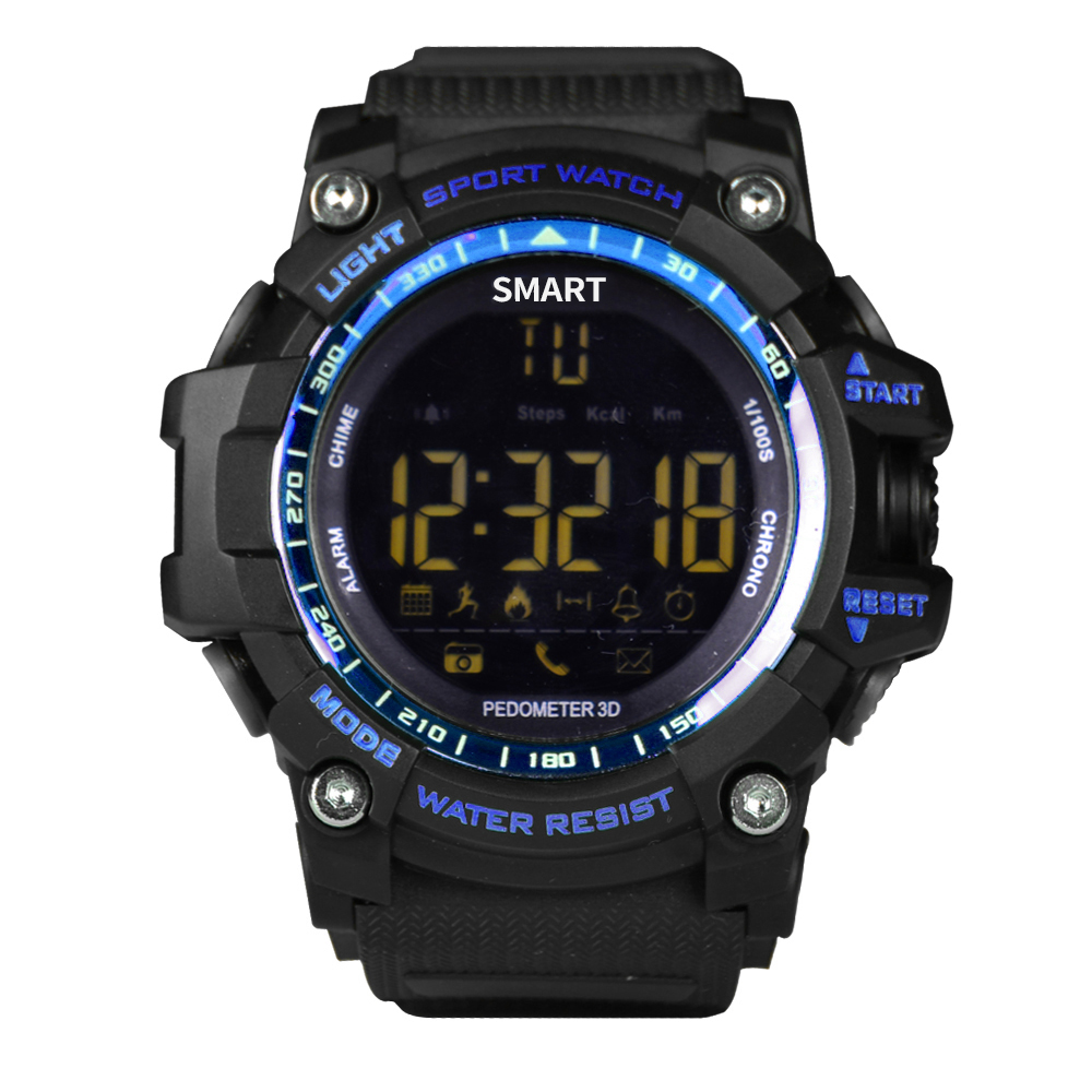Smartch IP67 Waterproof Bluetooth Smart Watch EX16 Sport Stopwatch Wearable Devices Electronics Connecter smartwatch Alarm Clock