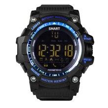 Smartch IP67 A Prueba de agua Reloj Inteligente Bluetooth EX16 Sport Cronómetro Dispositivos Portátiles de Electrónica Conector smartwatch Reloj Despertador