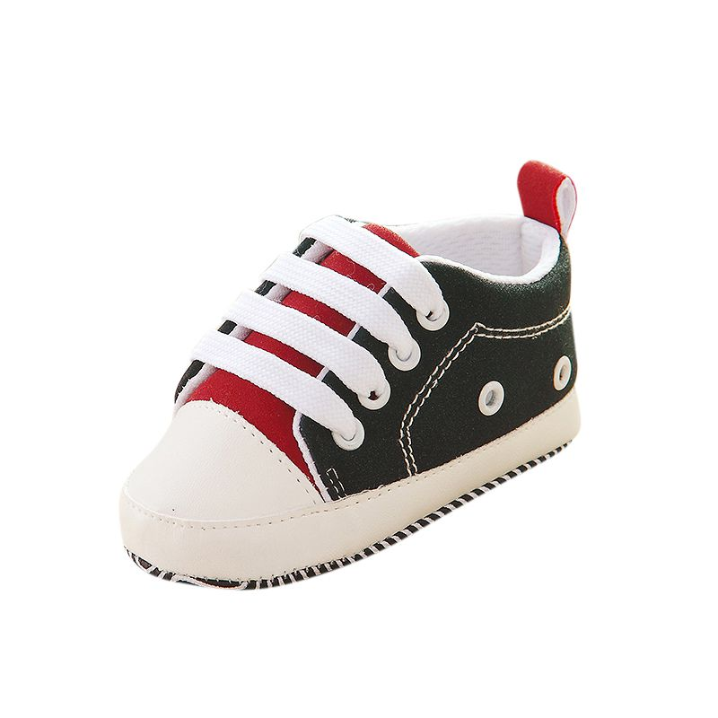 First Walkers Kids Infant Baby Boys Girls Soft Soled Cotton Crib Shoes Casual Laces Prewalkers 0-12m Easy And Simple To Handle