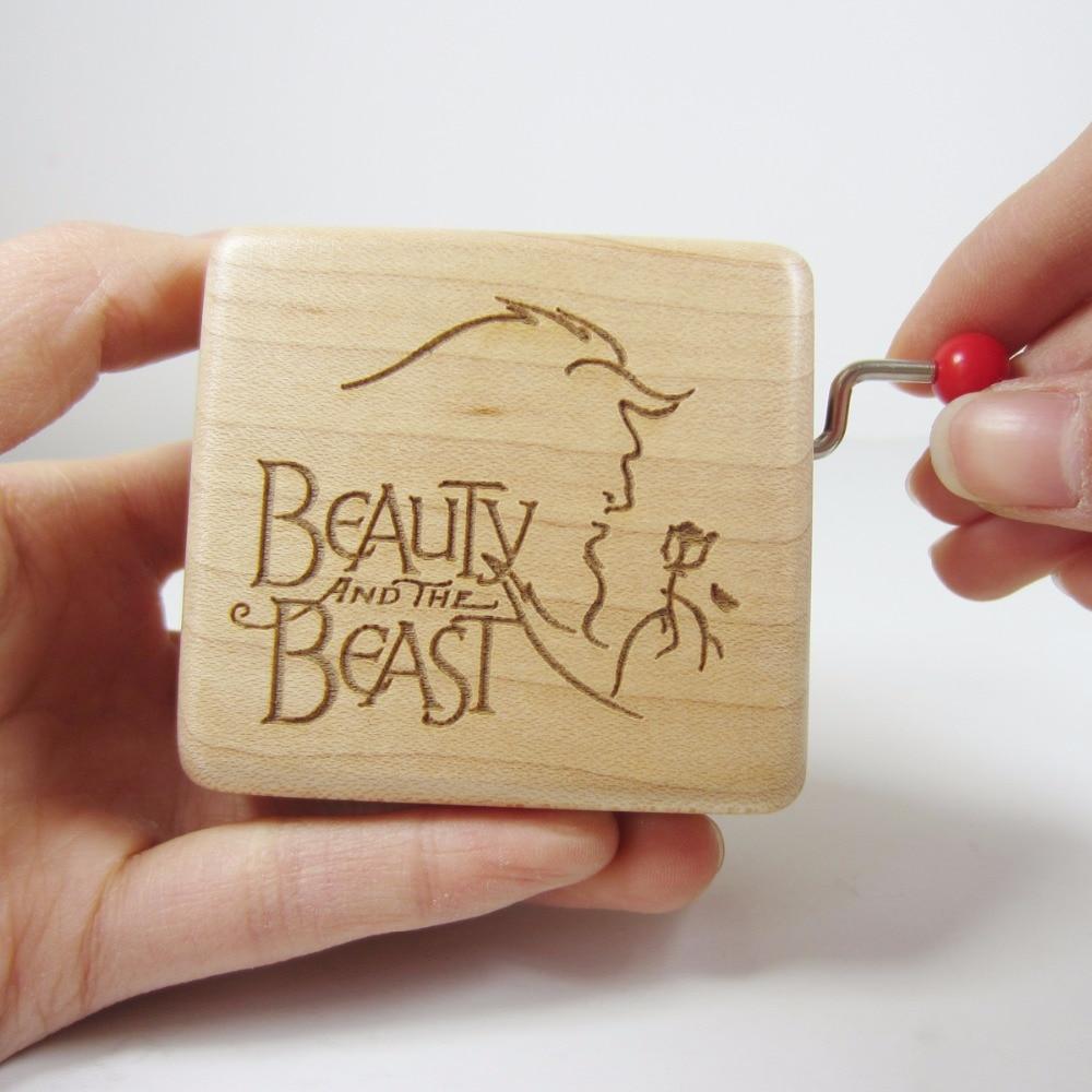 Wedding Music Box Gift: Handmade Smilelife Wood Beauty And The Beast Music Box