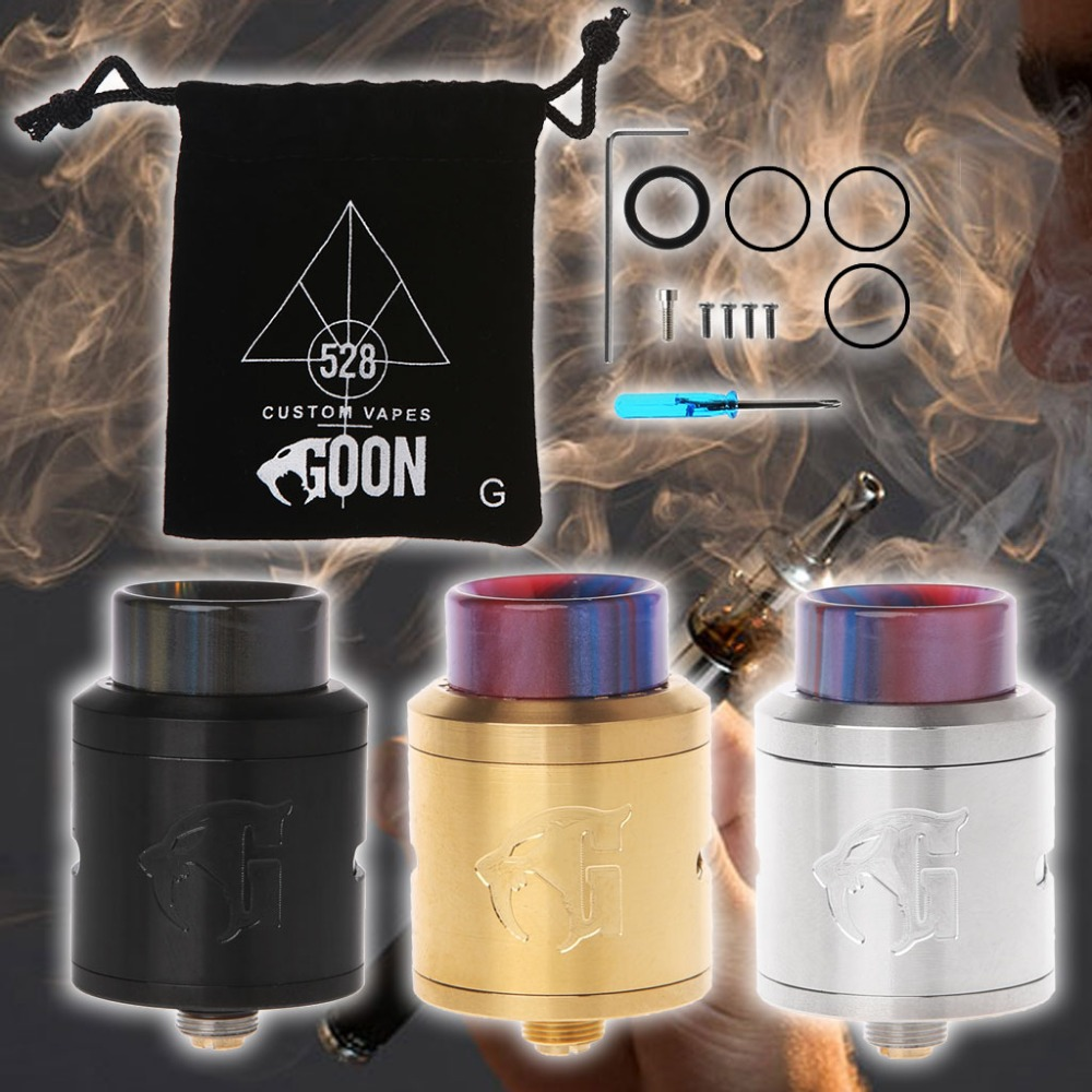 1 Set E-Cigarette Rebuildable Dripping Atomizer Resin Drip Tip For Goon V1.5 RDA Mod