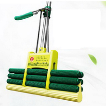 341221/Household flat mop/Ergonomic design/plus crude Stainless steel telescopic rodmaterials/Threaded metal/Double lock