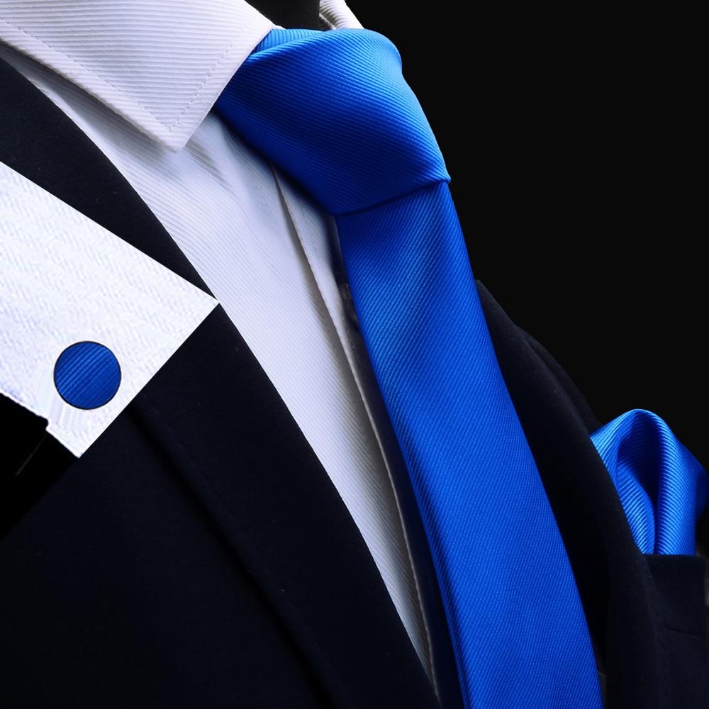 RBOCOTT Necktie Handkerchief Cufflink Set Red Solid Tie Set For Men Wedding Mens Plain Tie Pocket Square Gold Orange Ties 8cm