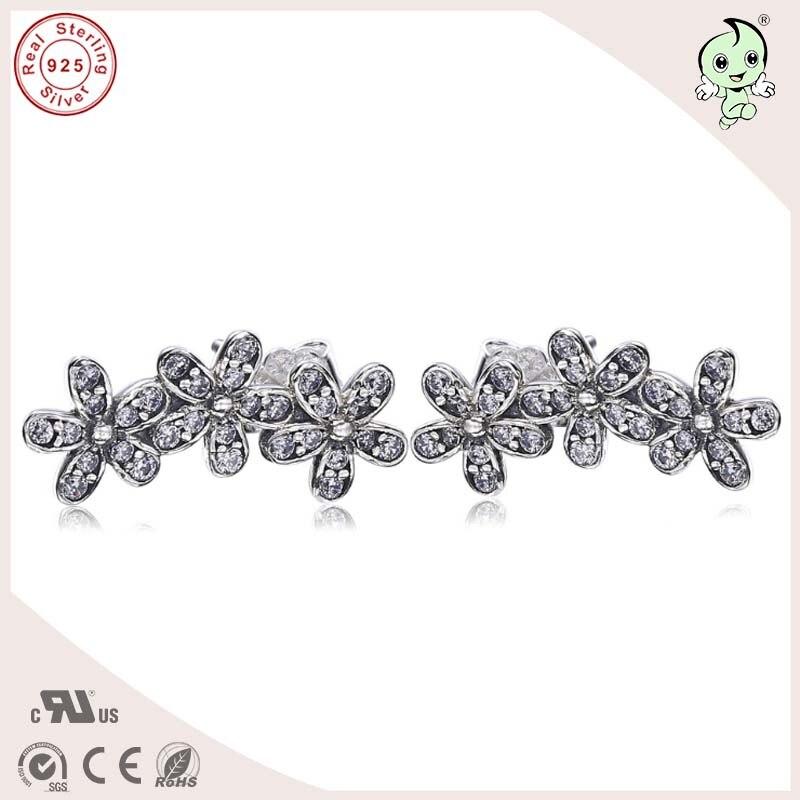 Top Quality Popolare E di Moda Nuova Collezione Daisy Design 925 Sterling Silver Stud Orecchino
