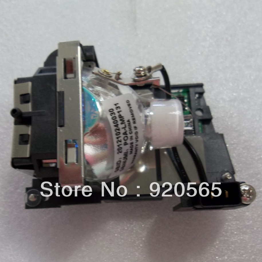 Replacement Projector Lamp with Housing POA-LMP131 / 610-343-2069 for Sanyo PLC-XU301/PLC-XU305/PLC-XU350/PLC-XU355 Projector projector lamp bulb poa lmp14 lmp14 610 265 8828 for sanyo plc 5600 plc 5600d plc 5605 plc 8800 plc 8800n plc 8805 with housing
