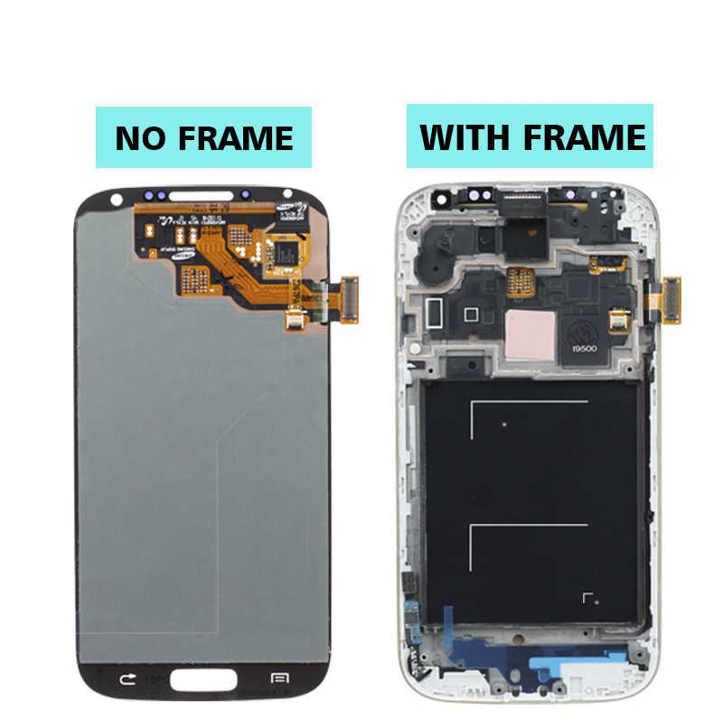الأصلي سوبر AMOLED S4 شاشات lcd لسامسونج غالاكسي S4 GT-i9505 i9500 i9505 i9506 i337 عرض شاشة رقمية تعمل بلمس استبدال