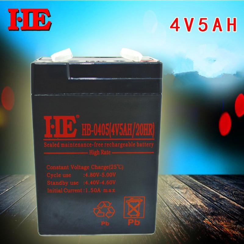HE 70*47*101MM 4V 5AH lead acid battery rechargeable small storage battery for LED flashlight electronic scales 5AH 4AH фонарь кемпинговый эра 55 x smd аккумулятор 4v 4ah зу 220v
