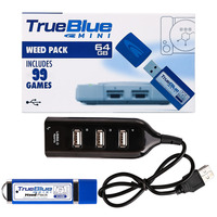 HOBBYINRC 2 player Games 64GB True Blue Mini Weed Pack 101 Games for PlayStation Classic Games & Accessories