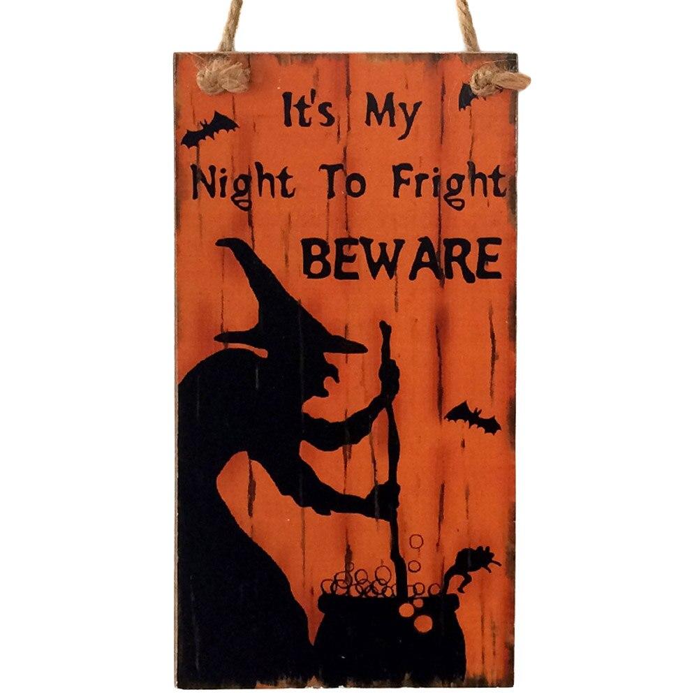 Новый стиль 1 шт. Хэллоуин вечерние украшения поставки ведьма деревенский деревянный табличка настенный знак Haing доска Хэллоуин пользу пода...