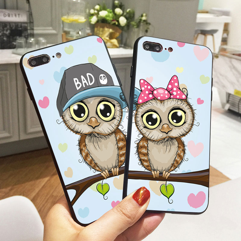 the latest d84cd 70ba0 US $2.72 30% OFF|Kawaii Owl Bff Couple Matching Phone Cover For iphone 7 8  X Best Friends Case For iphone 5S XR XS Max SE 6 s 6S Plus Phone Cases-in  ...