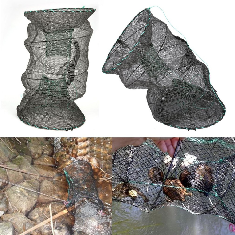 OUTAD Crab Crayfish Lobster Catcher Pot Trap Fishing Net Eel Prawn Shrimp Live Bait Eel Crab ...