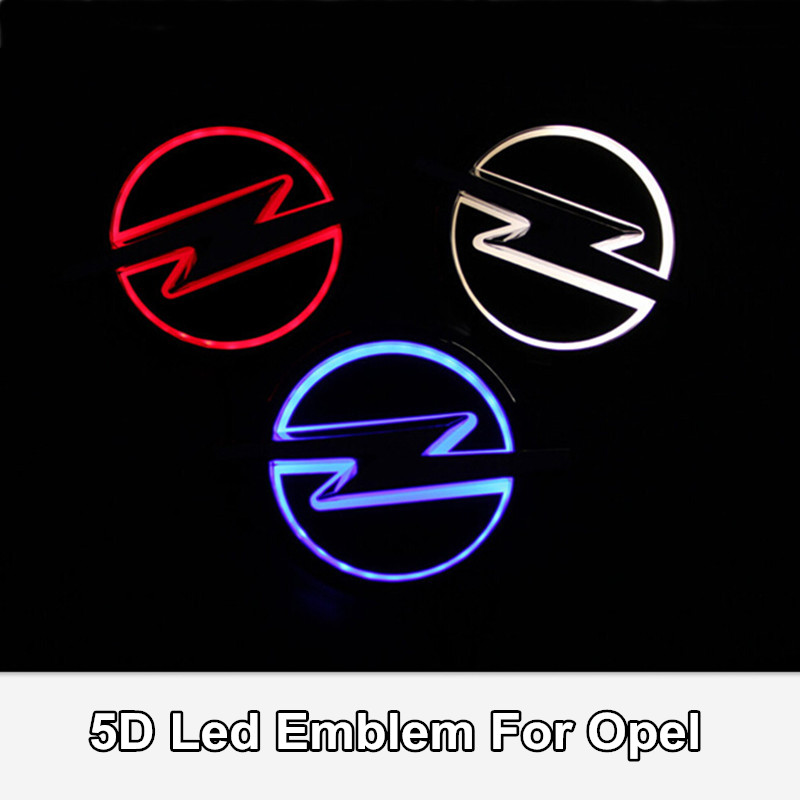 Car Styling 5D Led Rear Emblem Logo Light for Opel Corsa Insignia Zafira