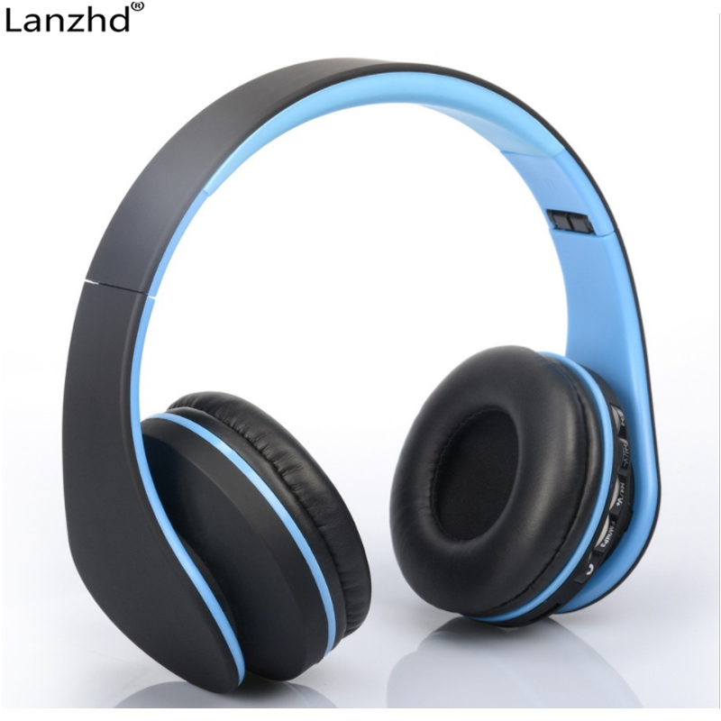 Smart Wireless Bluetooth Stereo Headset Headphone with MIC Support 3.5mm Stereo Audio Handsfree for Phone Tablet PSP bq 618 smart wireless bluetooth v4 1 edr stereo headphones with mic support 3 5mm stereo audio input
