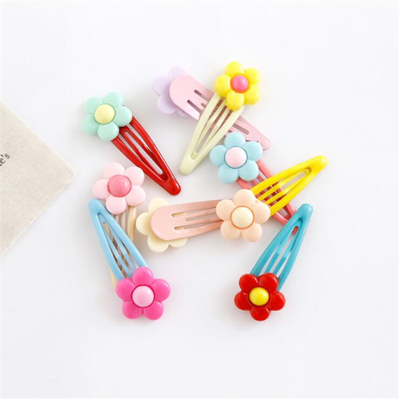 Super Cute Colored Flowers BB Clip Girls Children Hair Clips Pins Barrette Accessories For Kids Hair Ornament Hairgrip Headwear in Hair Accessories from Mother Kids