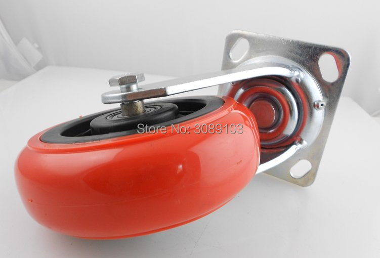 4 pcs PVC PU red Korean 5 inch PVC material 202 bearing heavy duty 230 kg industrial caster in Casters from Home Improvement
