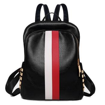 Σικ backpack με τρουκς και διχρωμία