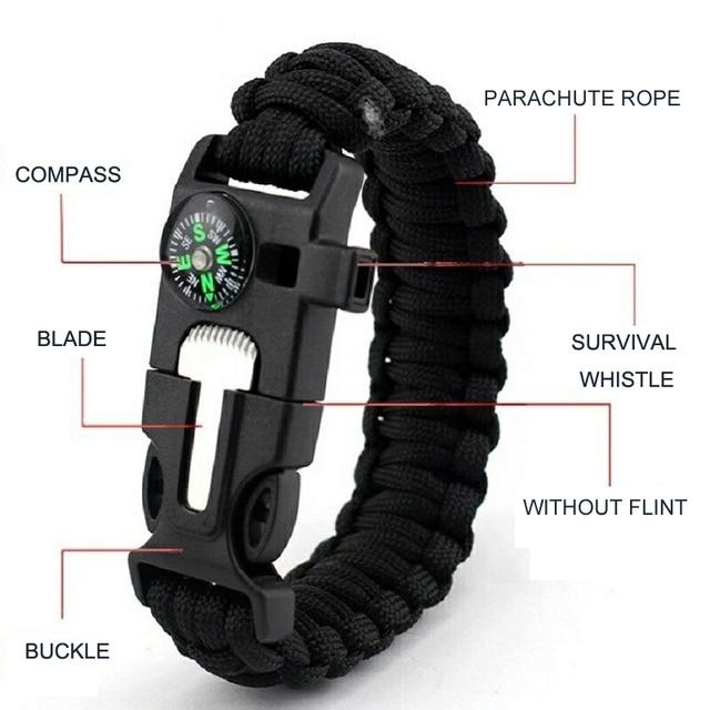 Купить новый плетеный браслет для выживания мужчин многофункциональные