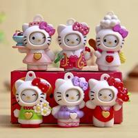 6 cái/bộ Hello Kitty Figures Đồ Chơi Chuyển Đổi Biểu Hiện Khuôn Mặt Novelty Hello Kitty Hành Động Hình Toy Kitty Mèo Đồ Chơi Quà Tặng cho trẻ em